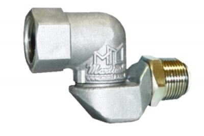 Conexão giratória, articulada em dois planos, entrada/saída 3/4.