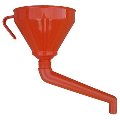 Funil de polietileno c/ extenção rígida 160mm 1,2 L