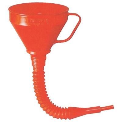 Funil de polietileno de uso geral c/ extensão flexível com peneira de 160 mm de 1,2 l.