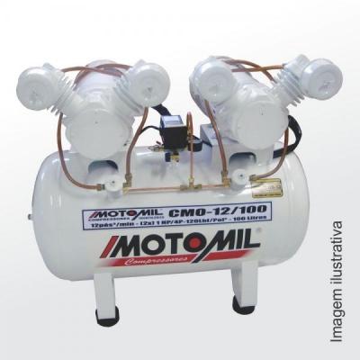 CMO-12/100-Isento de Óleo- 2 x 1 Hp-100Lts-120 Lbs