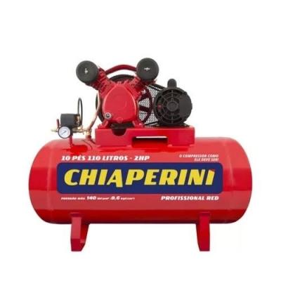 Compressor de ar média pressão 10 pcm 110 litros - Chiaperini 10/110 RED